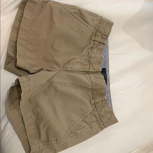 Jcrew women's khaki chino shorts size 00